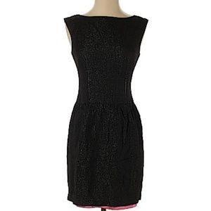 Milly metallic shimmer black cocktail dress